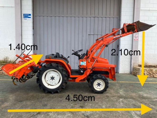 Tractor Kubota Aste A-17 con pala
